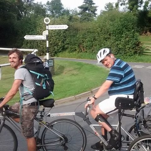 YBPSS member on a tandem cycle