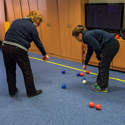 YBPSS members playing Boccia