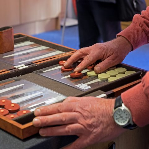 Tactile backgammon